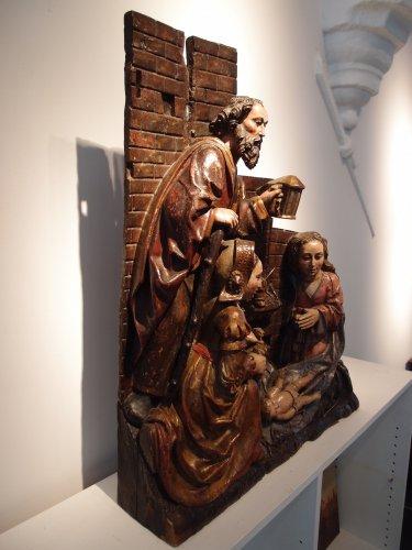 Antiquités - Adoration of the Christ Child - spanish school 16th century
