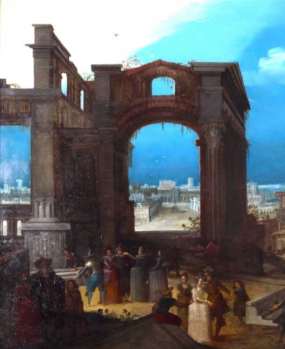 The old ruines of Rome - Paintings & Drawings Style