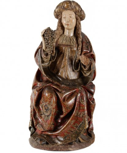 The holy Virgin - Spanish school late 15th century - Sculpture Style