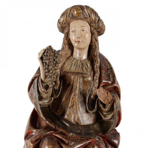 Sculpture  - The holy Virgin - Spanish school late 15th century
