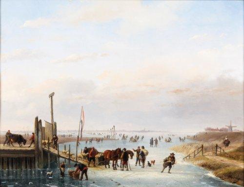 Loading the cattle - Albert Roosenboom and Eugène Verboekchoven