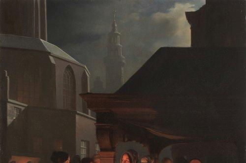 The fish market at the Groenmarkt in Den Hague - Petrus van Schendel (1806 - 1870) -