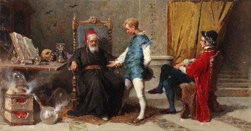 The alchimist - Francesco Peluso (1836 - 1916)