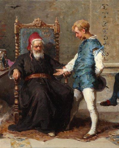 Paintings & Drawings  - The alchimist - Francesco Peluso (1836 - 1916)