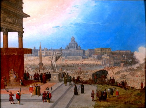 The entrance of pope Paulus Quintus in Rome - Hendrick van Cleve III