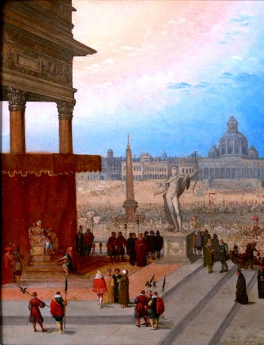 Paintings & Drawings  - The entrance of pope Paulus Quintus in Rome - Hendrick van Cleve III