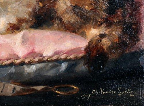 Paintings & Drawings  - Happier then a prince - Charles van den Eycken (1859 - 1923)