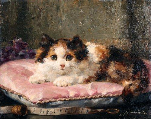 Happier then a prince - Charles van den Eycken (1859 - 1923) -