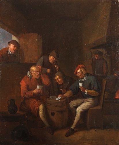 Playing cards at the inn - Egbert II VAN HEEMSKERCK (1676-1744)
