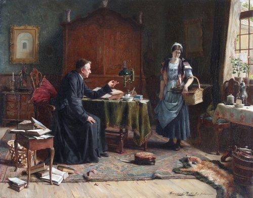 The warning -  - Gerard Portielje (1856-1929)