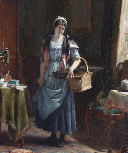 Paintings & Drawings  - The warning -  - Gerard Portielje (1856-1929)