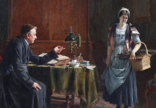 The warning -  - Gerard Portielje (1856-1929) -