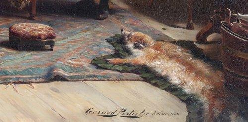 19th century - The warning -  - Gerard Portielje (1856-1929)