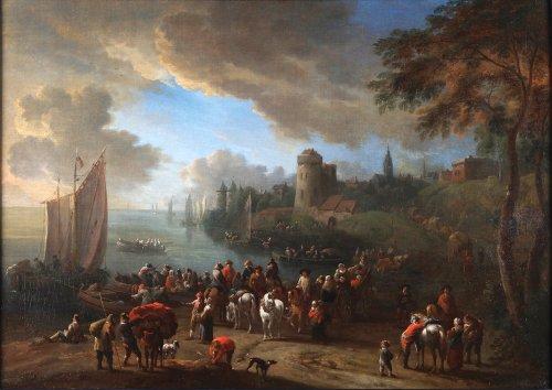 The departure -  - Théobald Michau (1676 – 1765)