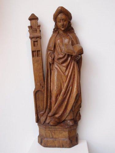 Saint Barbara, German School 15th century - Sculpture Style