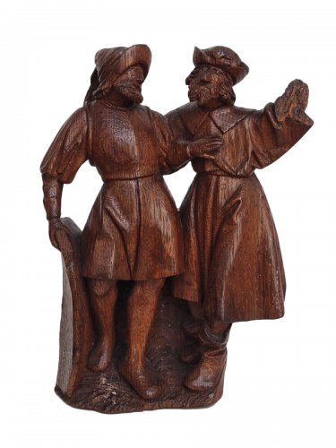 A group of 2 soldiers - Flemish school Circa 1500