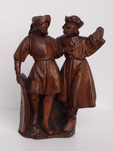 A group of 2 soldiers - Flemish school Circa 1500 - Sculpture Style