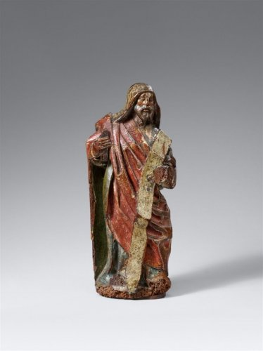 A standing figure of a prophet - German School - Sculpture Style