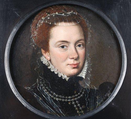 Portrait of Margareta van Parma - Flemish school 17th century