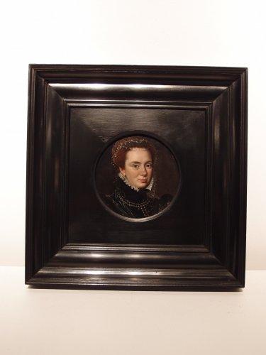 Portrait of Margareta van Parma - Flemish school 17th century - Paintings & Drawings Style