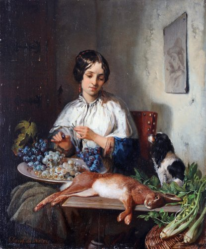 Preparing the meal - David de Noter (1818- 1892)