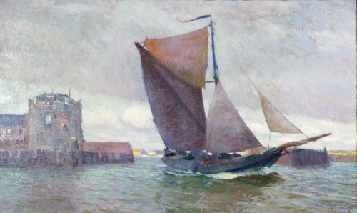 The harbour of Veere - Maurice Sys (1880-1972)