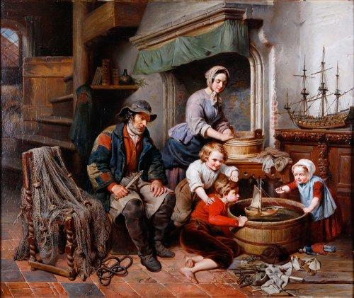 Joseph Ignace Van Hoey - Family time