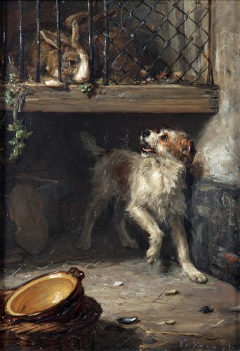 The guardian - Charles van den Eycken (1859 - 1923