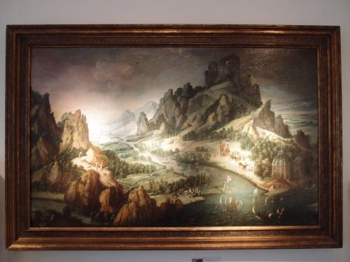 Animated mountanous landscape - 17th C. Dutch school - Paintings & Drawings Style