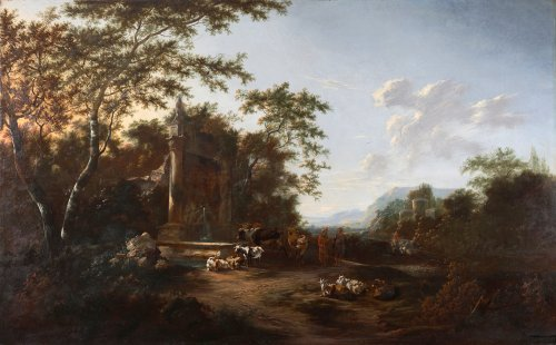 Cattle resting near a farm - Adam Colonia et Jan Snellinck III