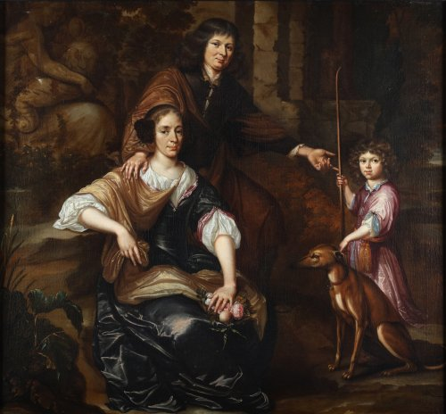 Family portrait - 17th century Dutch school
