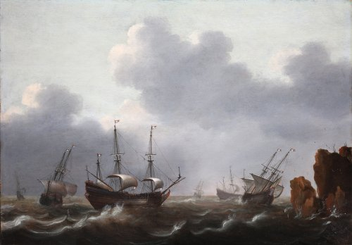 Attributed to Jacob Gerritsz. Loef (1607 - 1675) - Dutch ships