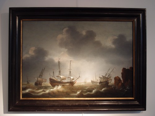 Attributed to Jacob Gerritsz. Loef (1607 - 1675) - Dutch ships - Paintings & Drawings Style