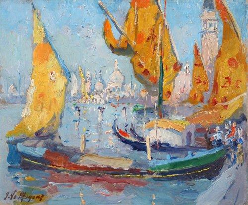 Adrien-Jean Le Mayeur de Merprès (Bosvoorde 1844 - 1923 Brussels) - Venice