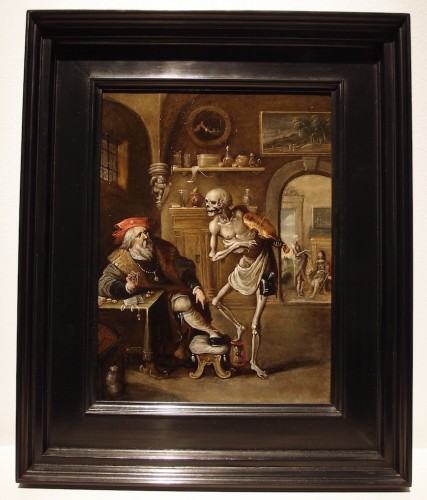 Frans Francken II (Antwerp 1581 - 1642 Antwerp) Death and the Miser - Paintings & Drawings Style