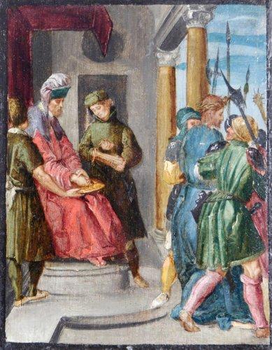 Attributed to Jan Symonsz Pynas - Pontius Pilatus washing his hands ...