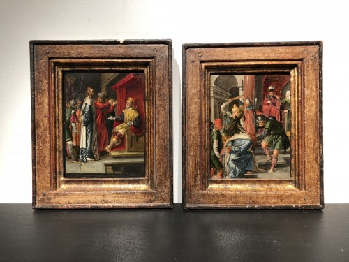 Paintings & Drawings  - Attributed to Jan Symonsz. Pynas - Carrying of the cross, Veronica ...