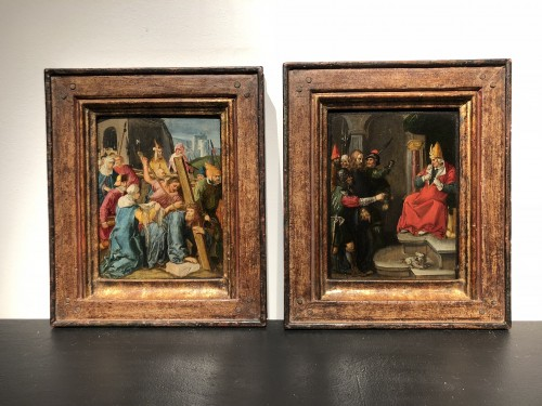 17th century - Attributed to Jan Symonsz. Pynas - Carrying of the cross, Veronica ...