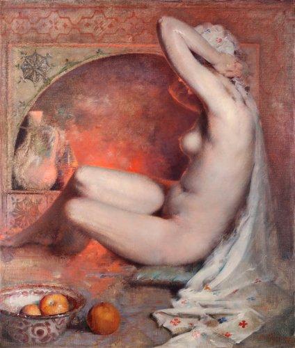 Henri Moreau (Bergen 1869 - 1943) - Oriental nude