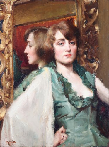 Jacques Maes (Ixelles 1905- 1968 Spain) - Reflection in the mirror