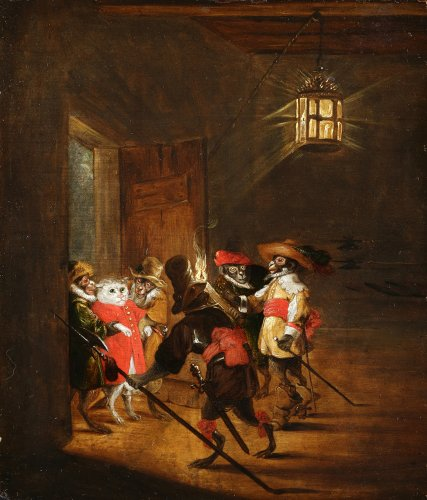 Attributed to Sebastian Vrancx (Antwerp 1573-1647 Antwerp) - The arrest
