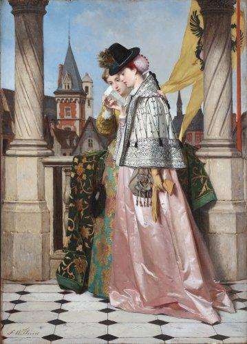 Florent Willems (Liège 1823-1905 Neville-sur-Seine) - The Letter
