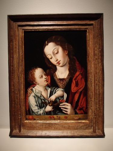 Virgin and Child - Flemish School, 16th century - Paintings & Drawings Style