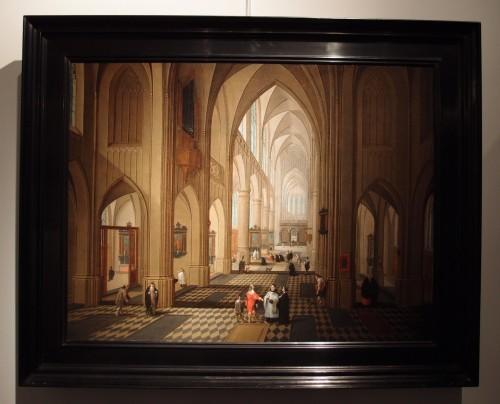 Pieter Neefs I (Antwerp 1578-1656 Antwerp)  - An animated church interior - Paintings & Drawings Style