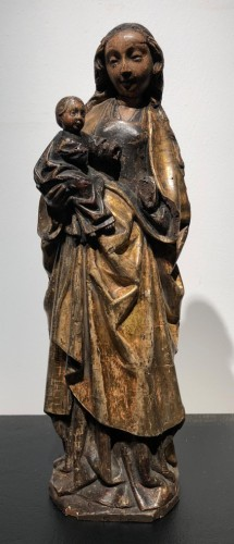 Sculpture  - A group representing the Virgin holding the Christ Child - Malines, ca.1500
