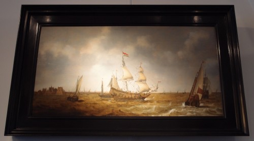 Claes Claesz. Wou (1592-1665)  - Ships before Fort Rammekens - Paintings & Drawings Style