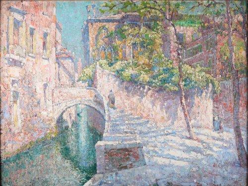 Paul Leduc (Hainaut 1876 - 1943 Brussels) - View of Venice