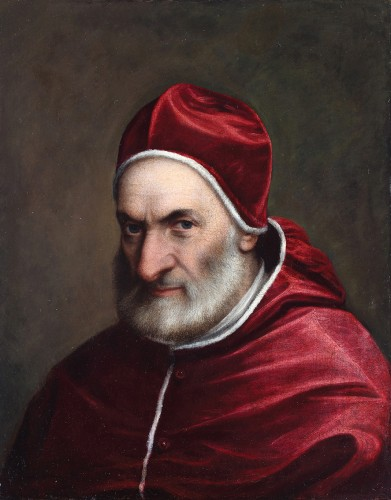 Portrait of Pope Pius IV ? - Italian shool
