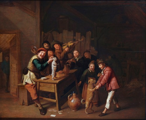 Merry-making in the inn - Jan Miense Molenaer (vers 1610 - 1668)