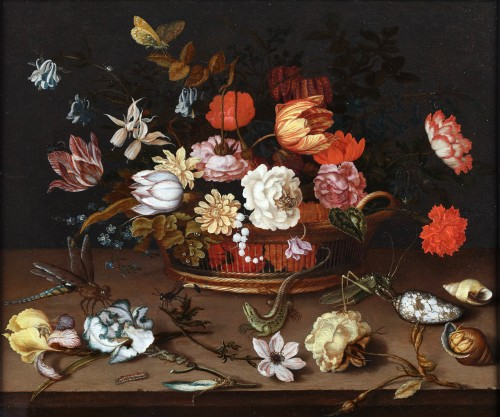 Still-Life with lizard - Baltasar van der Ast (1593/94 – 1657)